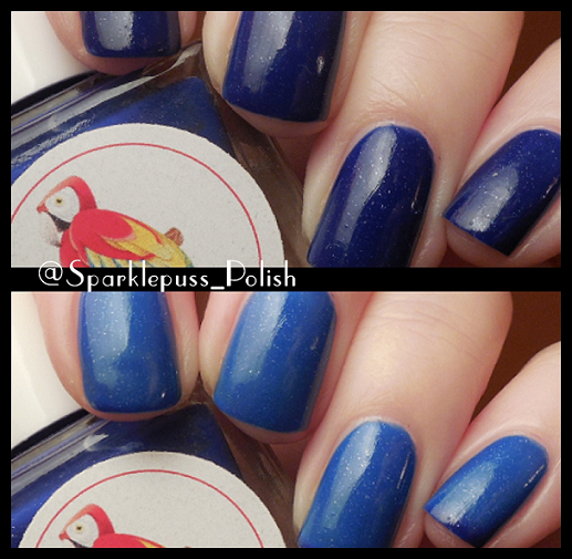 Blue Berry by Parrot Polish Collage