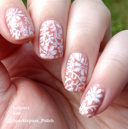 Peachy Queen by ILNP with stamping 3