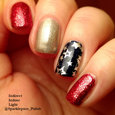 Cherry Luxe by ILNP Carpe Denim by KBShimmer Ring My Belle by Ocotpus Party Nail Lacquer 1