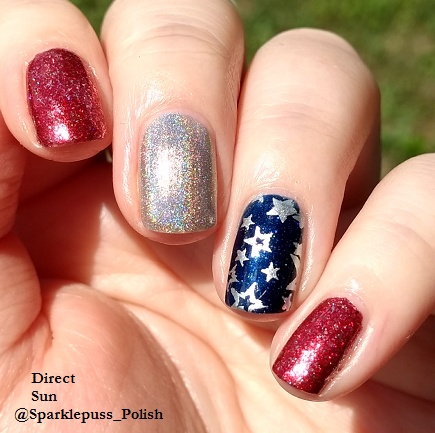 Cherry Luxe by ILNP Carpe Denim by KBShimmer Ring My Belle by Ocotpus Party Nail Lacquer