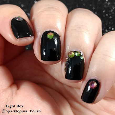 Black Knight by Funky Fingers with rhinestones 1