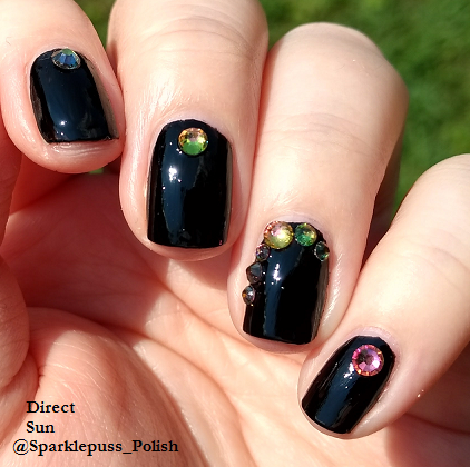 Black Knight by Funky Fingers with rhinestones