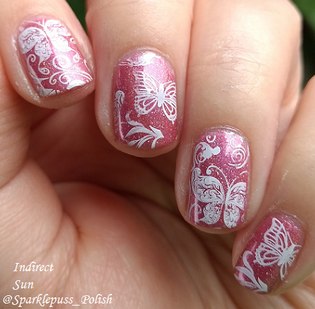 Feather Family by Literary Lacquers with nail art 1