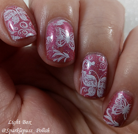 Feather Family by Literary Lacquers with nail art