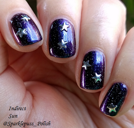 Miner's Gift by Literary Lacquers with nail art
