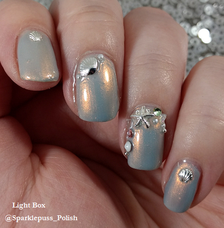 Pearl Jammin by China Glaze with beach nail art 1