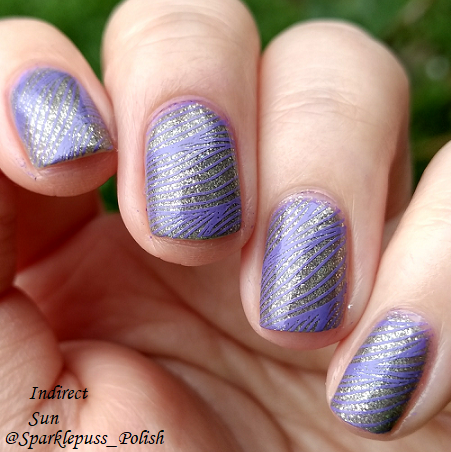 Swaying Grayly by Literary Lacquers with nail art 1