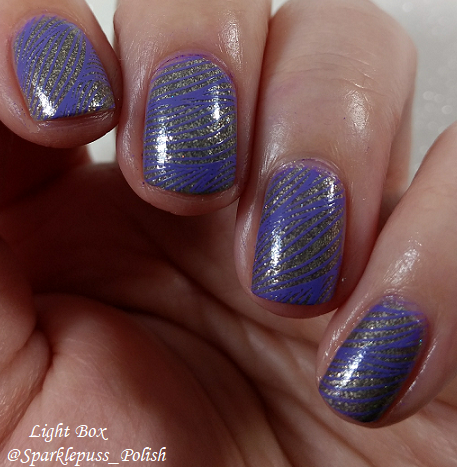 Swaying Grayly by Literary Lacquers with nail art
