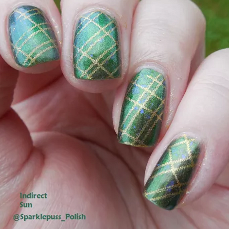 The Irish Mermaid by Gothic Gala Lacquers with nail art
