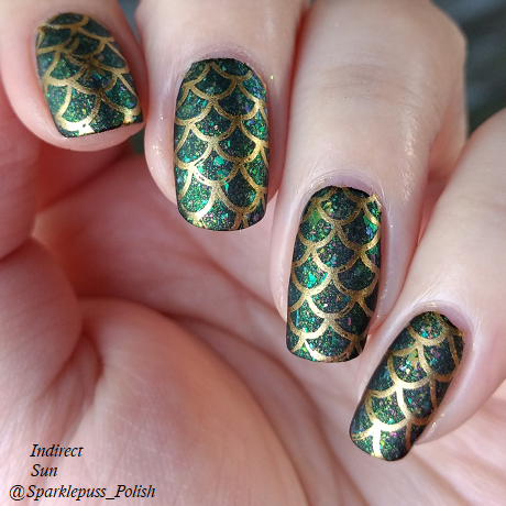 Run This Bayou by Octopus Party Nail Lacquer with nail art