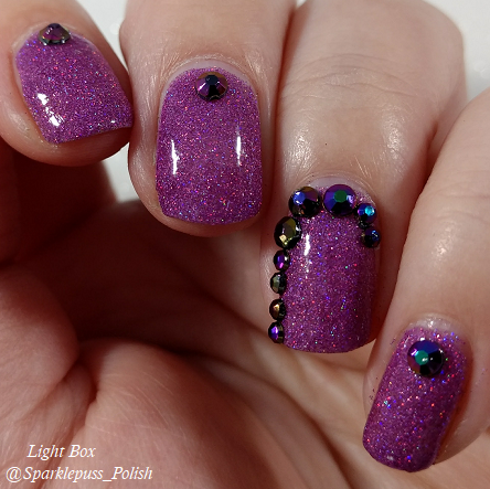 Stone of Power by Lucky 13 Lacquer with nail art 1