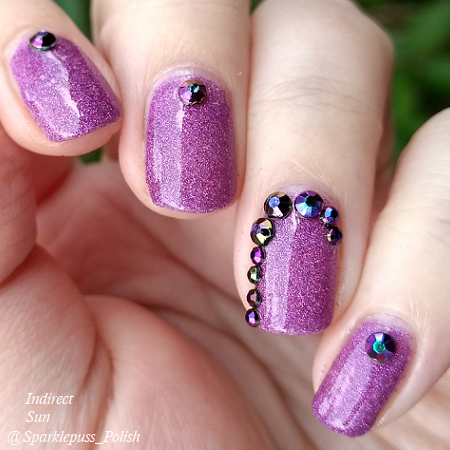 Stone of Power by Lucky 13 Lacquer with nail art