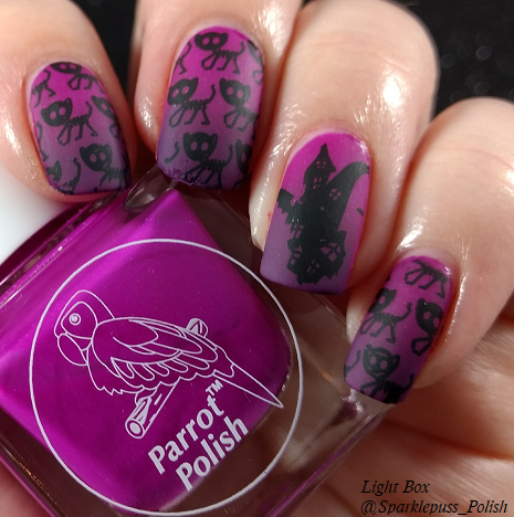 Bloom Tarantula Purple by Parrot Polish and Landon by Zoya 1
