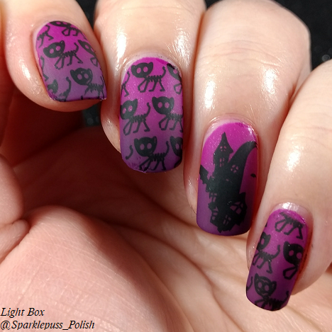 Bloom Tarantula Purple by Parrot Polish and Landon by Zoya