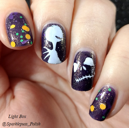 Deadly Nightshade by Lucky 13 Lacquer with nail art