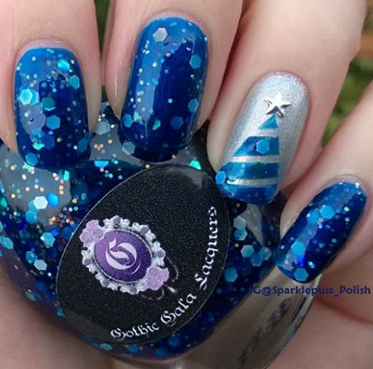 Blue Christmas and Silver Bells by Gothic Gala Lacquers