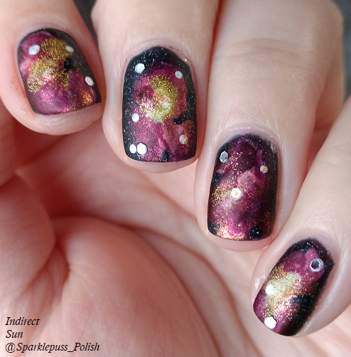 Red Galaxy with Zoya Octopus Party Nail Lacquer and Lucky 13 Lacquer 1