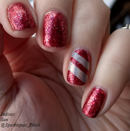 Cherry Luxe by ILNP and Crown of Queen Elizabeth by Octopus Party Nail Lacquer 1