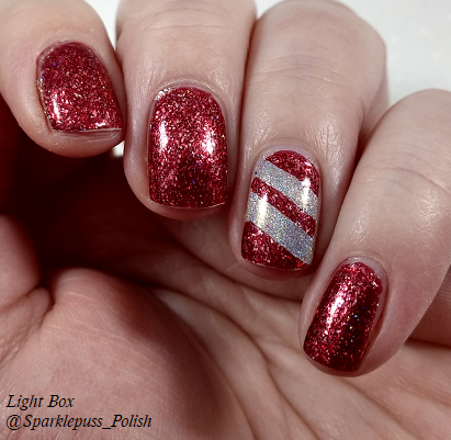 Cherry Luxe by ILNP and Crown of Queen Elizabeth by Octopus Party Nail Lacquer 2