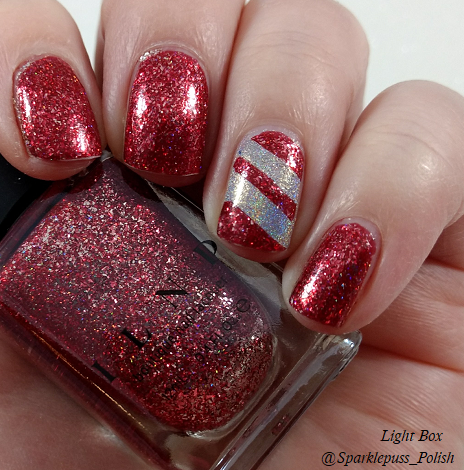 Cherry Luxe by ILNP and Crown of Queen Elizabeth by Octopus Party Nail Lacquer 3
