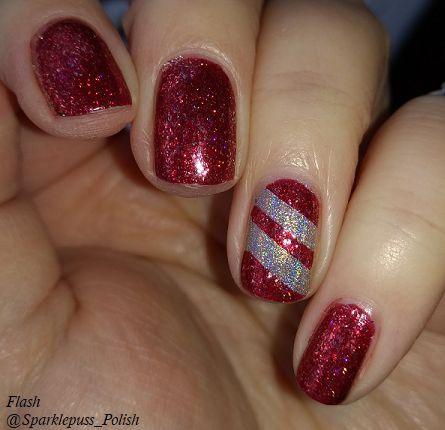 Cherry Luxe by ILNP and Crown of Queen Elizabeth by Octopus Party Nail Lacquer