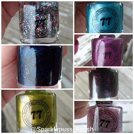Second week collage Seventy Seven Nail Lacquer