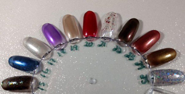 Third week and final days advent calendar Seventy Seven Nail Lacquer swatch wheel