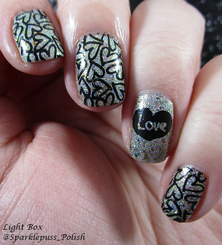 Pretty Beautiful Unlimited Fates Entwined Valentine's Day nail art